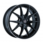 R16 4x100 6,5J ET52 D54,1 NZ Wheels F-34 BKPL