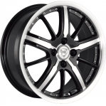 R16 4x100 6,5J ET52 D54,1 NZ Wheels SH 663 BKFPL
